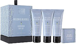 Парфюмерия и Козметика Комплект - Scottish Fine Soaps Willow & Bluebell (gel/douche/75ml + b/milk/75ml + chr/hend/75ml + soap/40g)