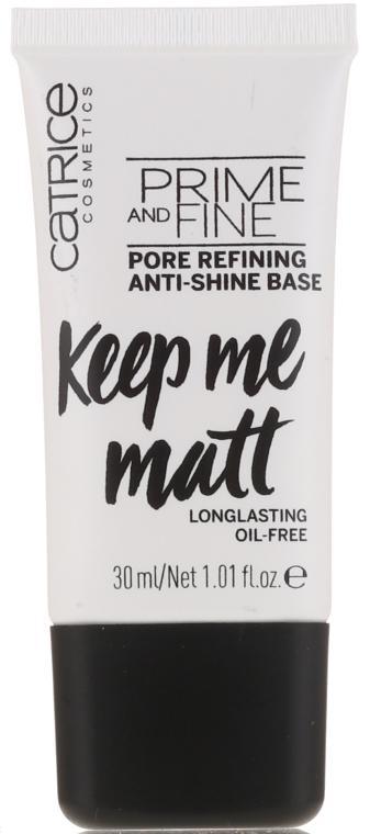 Изравняваща основа за грим - Catrice Prime And Fine Pore Refining Anti-Shine