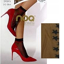 """Парфюмерия и Козметика Къси дамски чорапи """"Stars"""", 20 Den, naturel/fumo - Knittex"""