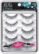 Парфюми, Парфюмерия, козметика Комплект изкуствени мигли - Ardell 5 Pack 110 Natural Black Lashes (10бр)