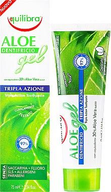 "Паста за зъби ""Тройно действие"" - Equilibra Aloe Gel"