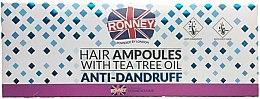Парфюми, Парфюмерия, козметика Ампули за коса против ампули - Ronney Hair Ampoules With Tea Tree Anti-Dandruff