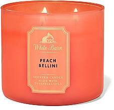 Парфюмерия и Козметика Bath And Body Works White Barn Peach Bellini 3-Wick Candle - Парфюмна свещ