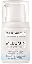 Парфюми, Парфюмерия, козметика Дневен крем против пигментни петна - Dermedic MeLumin Depigmenting Cream SPF 50+
