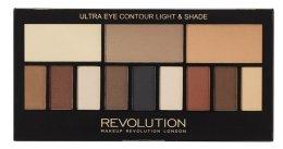 Парфюми, Парфюмерия, козметика Палитра сенки, 12 нюанса - Makeup Revolution Ultra Eye Contour Light and Shade