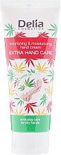 Парфюми, Парфюмерия, козметика Подхранващ и хидратиращ крем за ръце с конопено масло - Delia Cosmetics Extra Hand Care