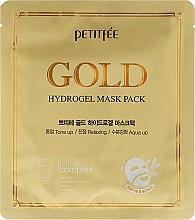 Парфюмерия и Козметика Хидрогелна маска за лице с златен комплекс +5 - Petitfee&Koelf Gold Hydrogel Mask Pack +5 Golden Complex