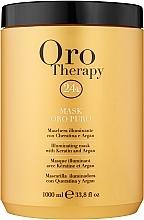 Парфюмерия и Козметика Регенерираща маска с активни микрочастици от злато - Fanola Oro Therapy Oro Puro Mask