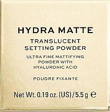 Парфюми, Парфюмерия, козметика Насипна пудра за лице с матиращ ефект - Makeup Revolution Pro Hydra Matte Translucent Setting Powder