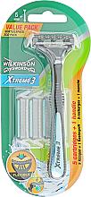Парфюмерия и Козметика Самобръсначка + 5 резервни ножчета - Wilkinson Sword Xtreme3 Hybrid