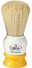Парфюмерия и Козметика Четка за бръснене, 10075, бяло-жълта - Omega