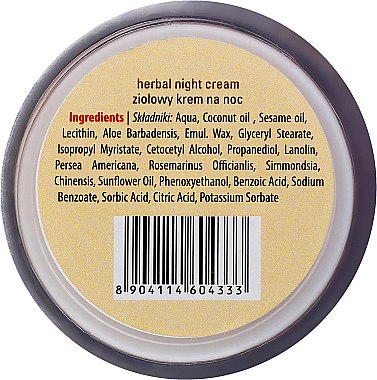 Нощен крем за лице с лечебни билки - Sattva Ayurveda Herbal Night Cream — снимка N3