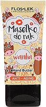 Парфюми, Парфюмерия, козметика Антистареещ сапун за ръце с ванилия - Floslek Anti-Aging Wanilia Hand Butter