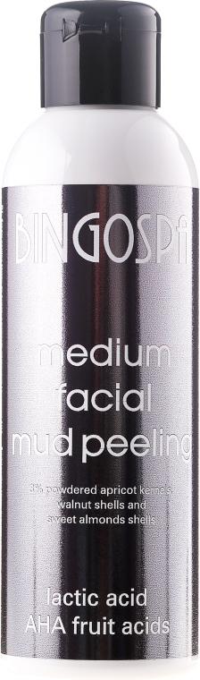 Пилинг за лице от кал, мляко и плодова киселина - BingoSpa Medium Facial Mud Peeling