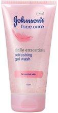Парфюми, Парфюмерия, козметика Освежаващ измиващ гел за нормална кожа - Johnson's Daily Essentials Refreshing Gel Face Wash