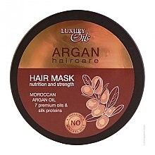 Парфюмерия и Козметика Подхранваща маска за коса с органични масла от арган и макадамия - Argan Haircare