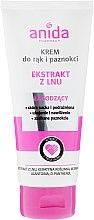 Парфюми, Парфюмерия, козметика Крем за ръце и нокти с екстракт от лен - Anida Pharmacy Linen Extract Hand Cream