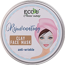 Парфюмерия и Козметика Глинена маска за лице против бръчки - Eco U Anti-Wrinkle Clay Face Mask
