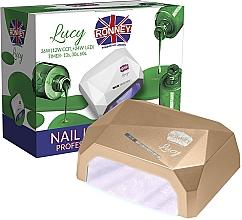 Парфюмерия и Козметика Лампа за нокти CCFL+LED, златиста - Ronney Profesional Lucy CCFL + LED 36W (GY-LCL-021) Lamp