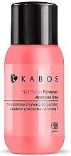 Парфюмерия и Козметика Лакочистител с масло от вечерна иглика, грейпфрут и витамин F - Kabos Nail Polish Remover