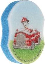 """Парфюмерия и Козметика Детска гъба за баня """"Пес патрул"""", Маршал с кола - Suavipiel Paw Patrol Bath Sponge"""