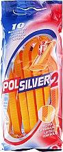 Парфюми, Парфюмерия, козметика Комплект еднократни самобръсначки, 10 бр - Polsilver 2