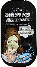 Парфюмерия и Козметика Нощна памучна маска за лице - PurenSkin Multi Age Care Sleeping Mask