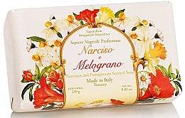 "Парфюми, Парфюмерия, козметика Натурален сапун ""Нарцис и Нар"" - Saponificio Artigianale Fiorentino Narcissus & Pomegranate Soap"