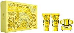 Парфюми, Парфюмерия, козметика Versace Yellow Diamond - Комплект (тоал. вода/50ml + лосион за тяло/50ml + душ гел/50ml)