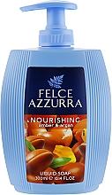 Парфюмерия и Козметика Течен сапун с кехлибар и арган - Felce Azzurra Nutriente Amber & Argan