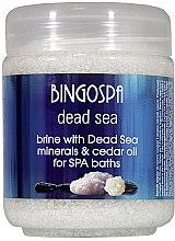 Парфюми, Парфюмерия, козметика Соли за вана с минерали от Мъртво море и кедрово масло - BingoSpa Brine With Dead Sea Minerals For SPA Baths With Cedar And Baobab Seed Oil