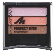 Парфюмерия и Козметика Сенки - Manhattan Eyeshadow Trio Perfect Eyes