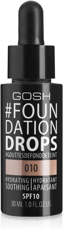 Фон дьо тен с лека текстура - Gosh Foundation Drops SPF10