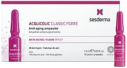 Парфюмерия и Козметика Антистареещи ампули с гликолова киселина - SesDerma Laboratories Acglicolic Classic Forte Anti-Aging Ampoules