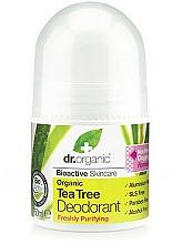 Парфюмерия и Козметика Дезодорант рол-он с чаено дърво - Dr. Organic Bioactive Skincare Tea Tree Roll-On Deodorant