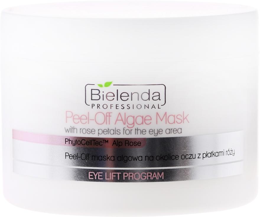 Алгинатна маска за очи с розови листенца - Bielenda Professional Eye Lift Program Peel-Off Algae Mask