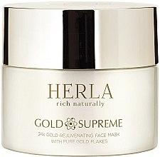 Парфюми, Парфюмерия, козметика Маска за лице - Herla Gold Supreme 24K Gold Rejuvenating Face Mask With Pure Gold Flakes (мостра)