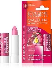 "Парфюмерия и Козметика Балсам за устни ""Нар"" - Eveline Cosmetics Lip Therapy Proffesional Vaseline Lip Balm"
