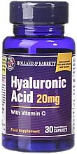 Парфюмерия и Козметика Хранителна добавка с хиалуронова киселина с витамин С 20 мг - Holland & Barrett Hyaluronic Acid With Vitamin C
