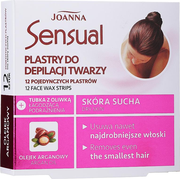 Депилиращи восъчни ленти с арганово масло за лице - Joanna Sensual Depilatory Face Strips