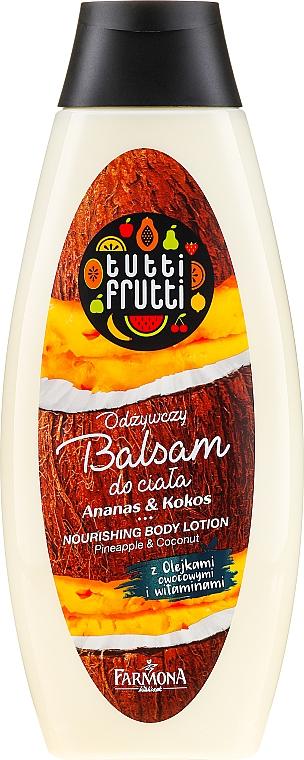 """Подхранващ лосион за тяло """"Ананас и кокос"""" - Farmona Tutti Frutti Nourishing Body Lotion"""