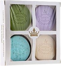 Парфюмерия и Козметика Комплект сапуни - Essencias De Portugal Senses Natural (soap/4x50g)