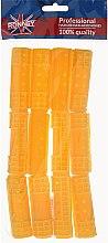 Парфюмерия и Козметика Ролки за коса 20/65 мм, жълти - Ronney Hollow Magntic Rollers