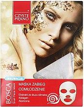 Парфюмерия и Козметика Маска за лице с екстракт от охлюв - Czyste Piekno Bosca Snail Face Mask