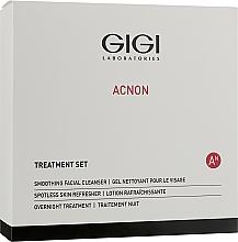 Парфюмерия и Козметика Комплект за лице - Gigi Treatment Set (почит. гел/100ml+нощен крем/50ml+лос./120ml)