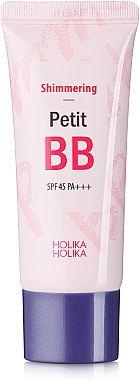 Изсветляващ и озаряващ BB крем за лице - Holika Holika Shimmering Petit BB Cream SPF45 — снимка N1