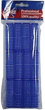 Парфюми, Парфюмерия, козметика Велкро ролки за коса 16/63, сини - Ronney Professional Velcro Roller