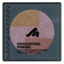 Парфюмерия и Козметика Пудра за лице - Manhattan Pressed Powder Highlighting Powder