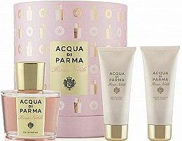 Парфюмерия и Козметика Acqua di Parma Rosa Nobile Set - Комплект (парф. вода/100ml + душ гел/75ml + крем за тяло/75ml)