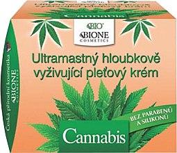 Парфюми, Парфюмерия, козметика Ултра подхранващ крем за лице с коноп - Bione Cosmetics Cannabis Ultra Greasy Deeply Nourishing Cream